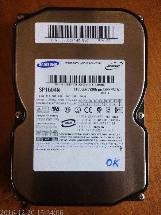 """Hdd 160GB ,,Samsung"""""""