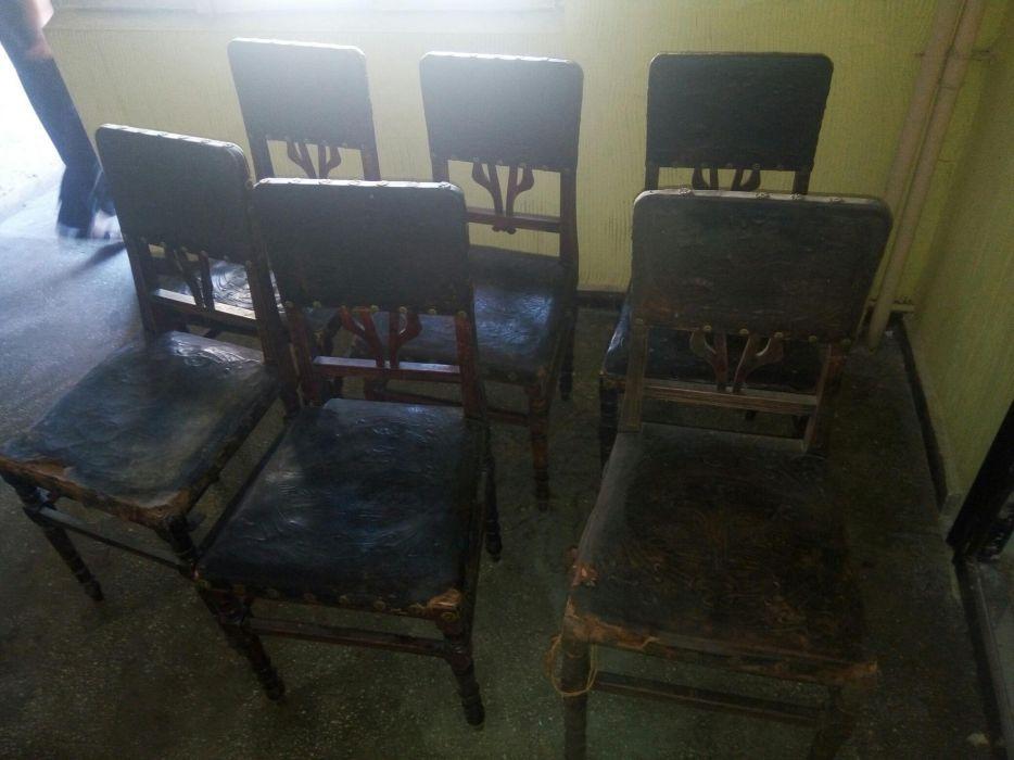 Set 6 scaune - piele de Cordoba