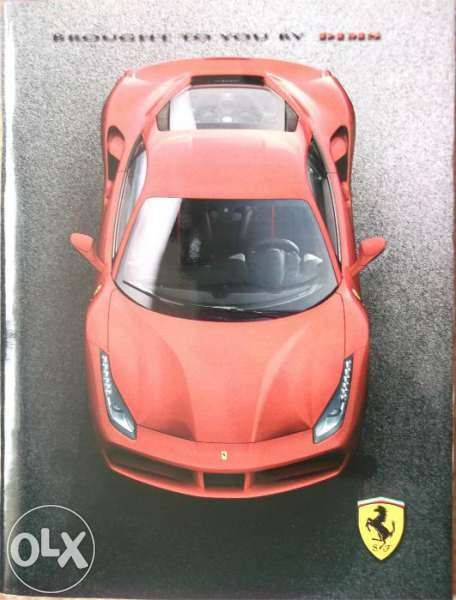 Колекционерски прес кит списание брошура автомобили Ferrari 488 GTB