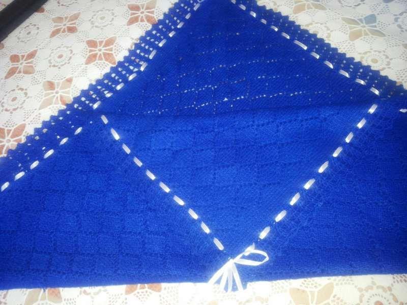 Намаление от 30 на 25лв.Уникална плетена пелена