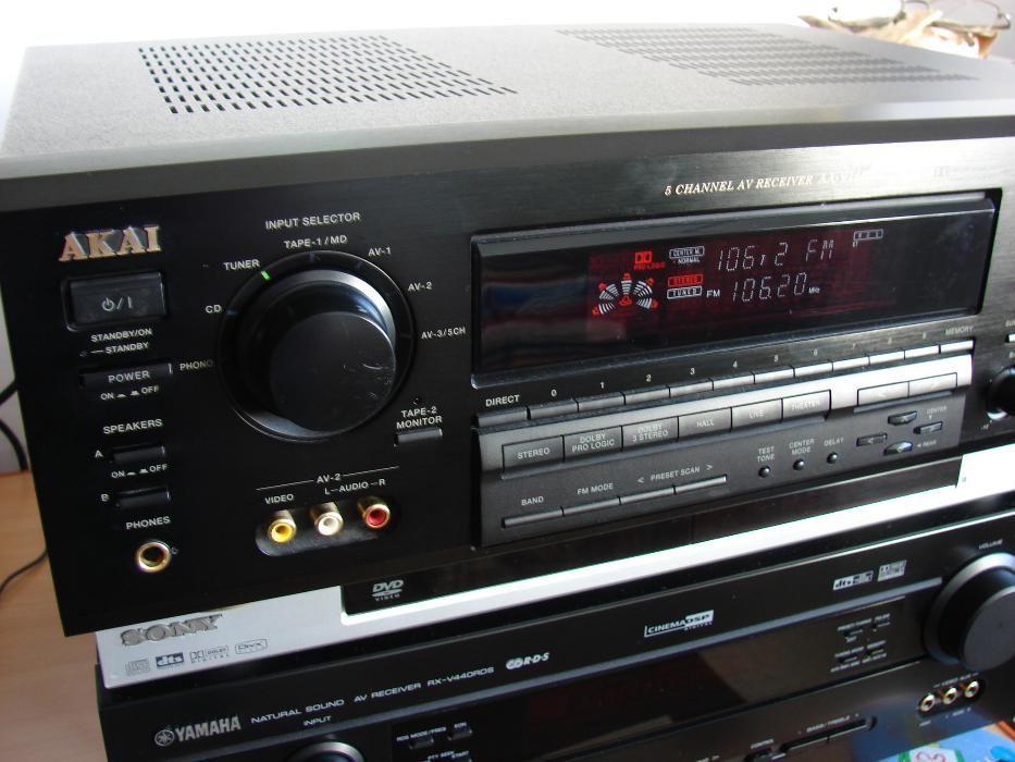 Amplif. Akai aa v 1200 si Technics Sony