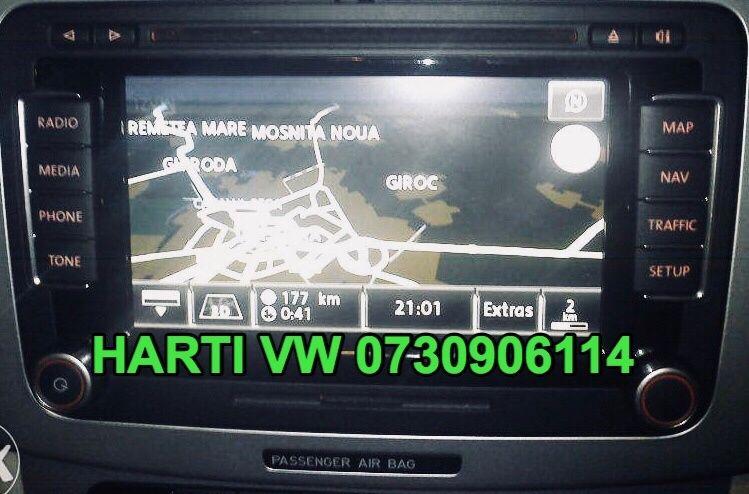 Dvd Harti Navigatie VW RNS315 RNS510 Harti PASSAT Tiguan Touareg 2018