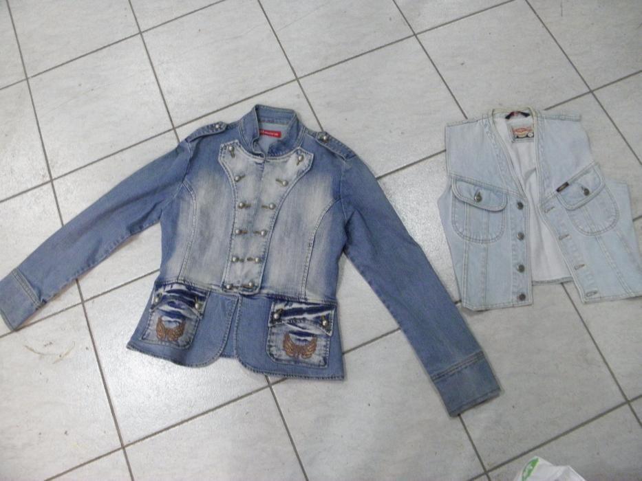 Дънково сафари,елек яке,блуза,манто