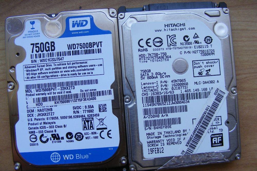 HDD hard disk 2,5 sata 750gb 640gb 500gb 320gb 250gb 160gb 120gb 60gb