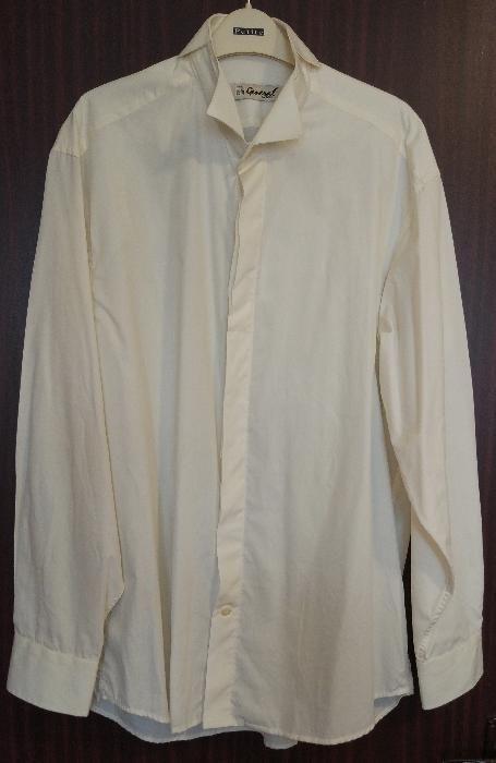 Camasa mire + vesta + lavaliera - culoare crem, marca Seroussi
