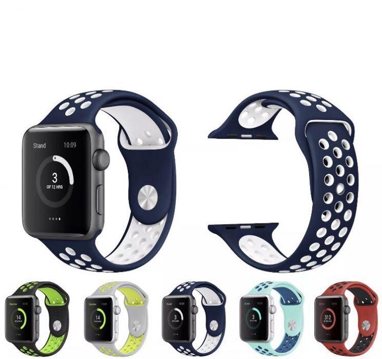 Bratara Apple Watch 42 / 44mm silicon gauri Black Red Green Model NIKE