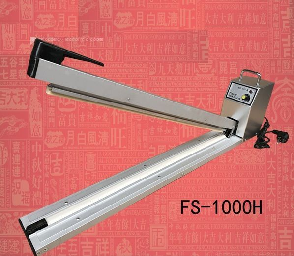 Импульсный ручной запайщик пакетов FS-1000H, ширина пайки 1 метр