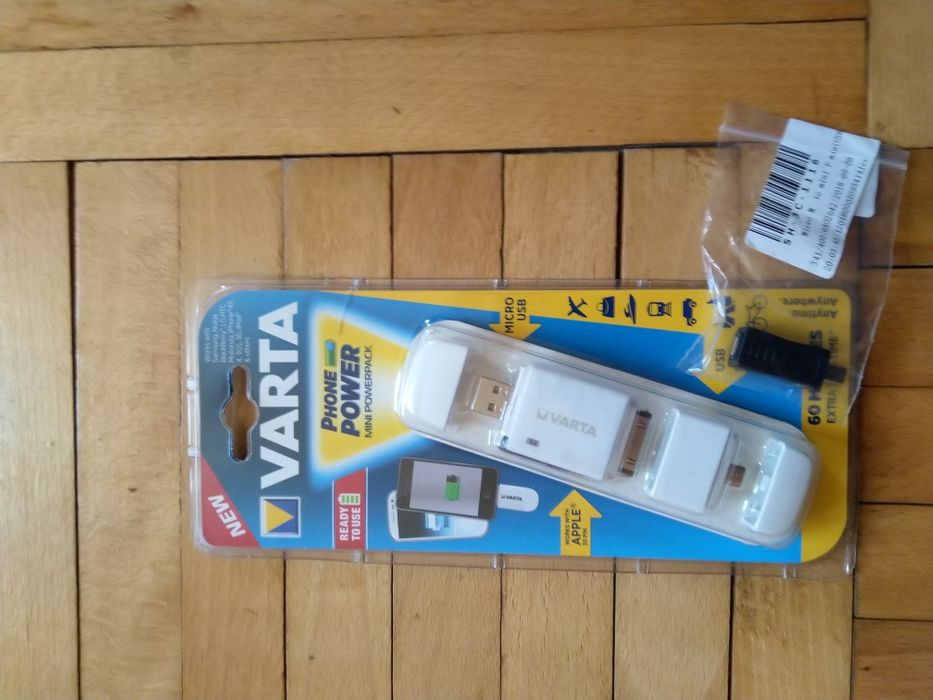 Baterie externa NOUA, marca Varta, 400mah ideal iPod, mp3 player, etc.