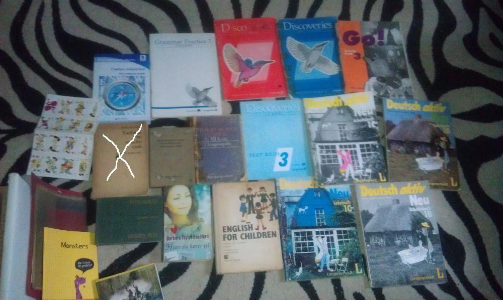 лот от книги и учебници по език
