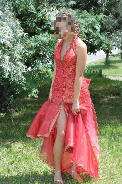 Уникална Бална Рокля,в огнен цвят,Поръчков модел от Романтика фешън!