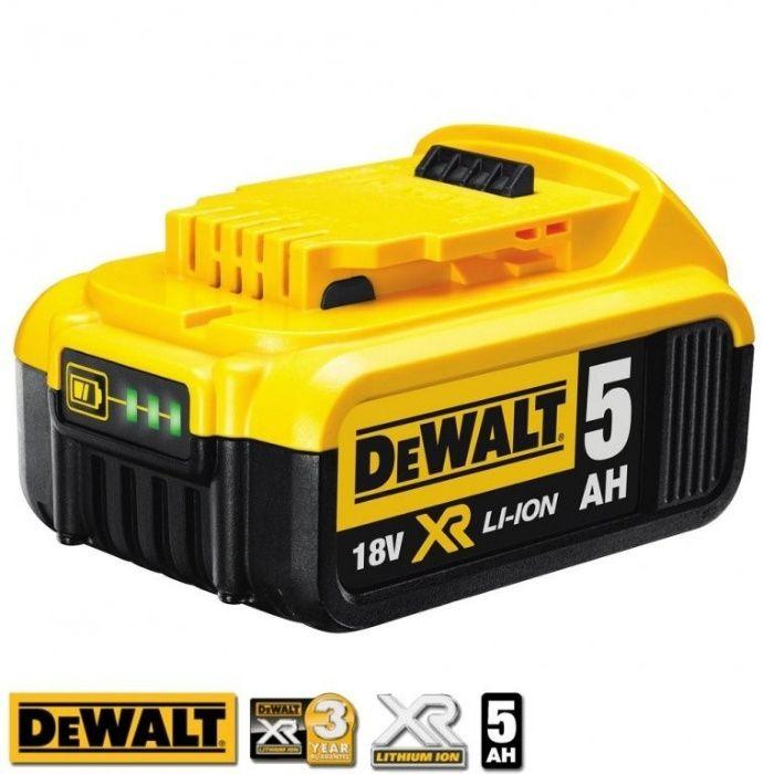 Батерия DeWALT DCB184 , 18V , 5АН Li-Ion 2 години ГАРАНЦИЯ