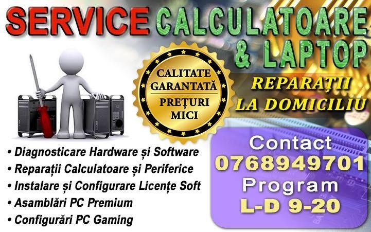 Service reparatii calculatoare (diagnosticare pc,reparatii pc ,laptop)