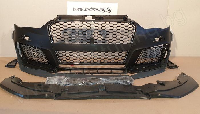 [На Склад] Предна тунинг броня за Audi A3 RS3 ДИЗАЙН - 2013-2016
