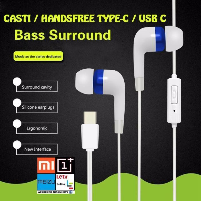 Casti Handsfree Mufa TYPE-C / USB C . Produs NOU !!!