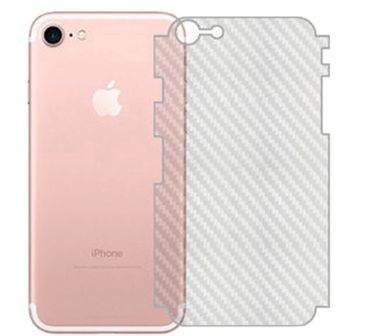 Folie de carbon spate iPhone 7 / 8 cu margini [Full cover]