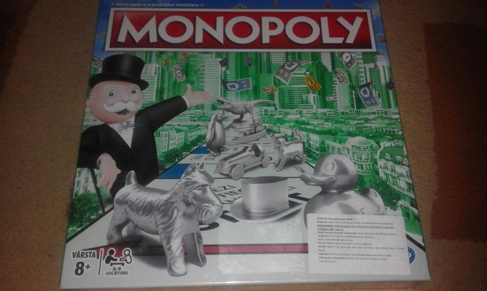 Monopoly clasic 8 pioni argintii, lb.romana, nou, tipla,Hasbro Irlanda