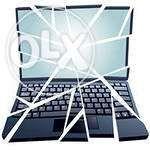 Замена разбитой матрицы, монитора, экрана на ноутбуке, чистка от пыли