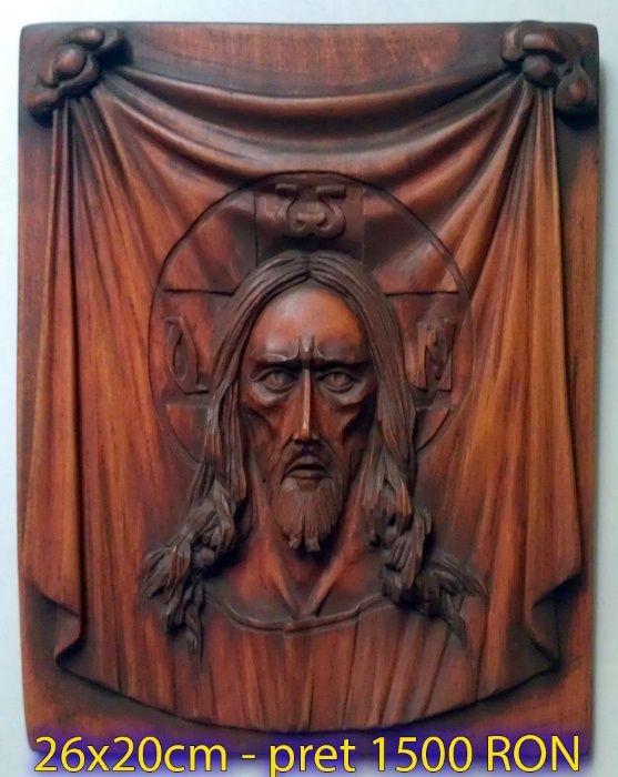 Icoana sculptata - lemn, unicat executie manuala