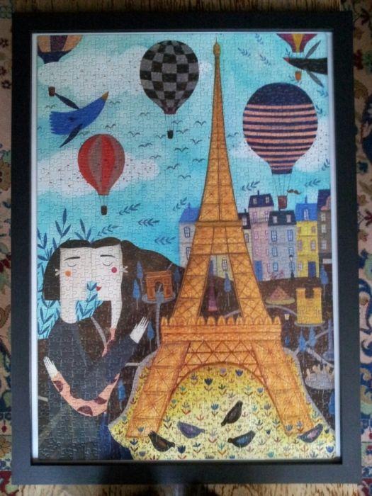 Tablou puzzle 1000 piese, 50x70, cu rama neagra
