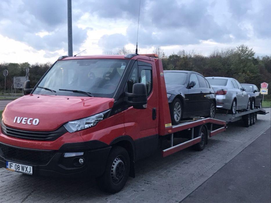 Transport auto pe platforma din Germania, Belgia,Olanda.