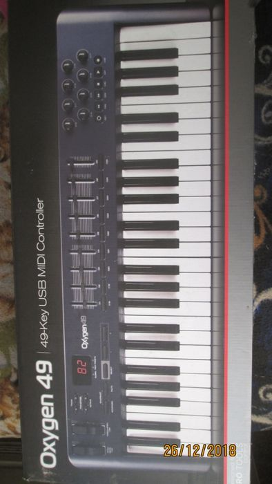 бартер за педалетка или 50 куб.мотопед нов клавир Oxygen 4