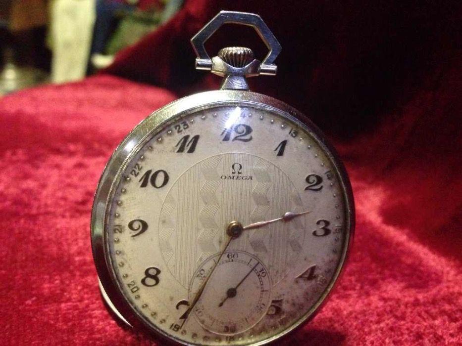 OMEGA Омега мъжки джобен часовник в стил АРТ ДЕКО
