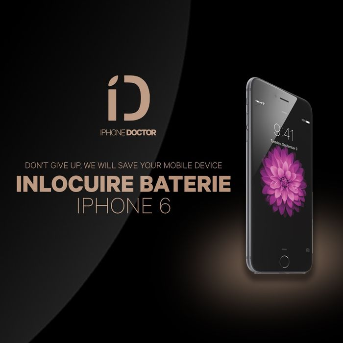 iPhone 6 baterie montaj pe loc in 5 minute