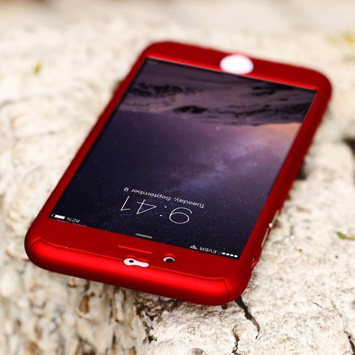 Husa 360 grade protectie fata-spate iPhone7 + Folie de sticla gratis