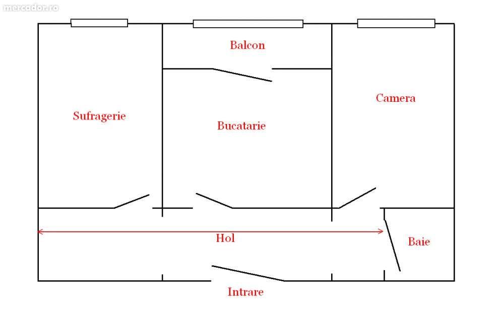 Apartament 2 camere - et. IV roman