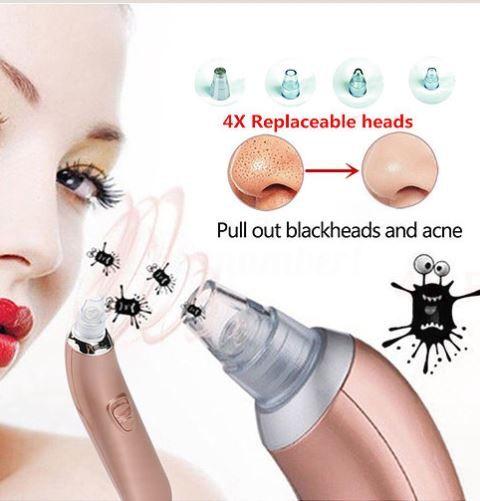 Removedor de cravos e acnes facial a vácuo