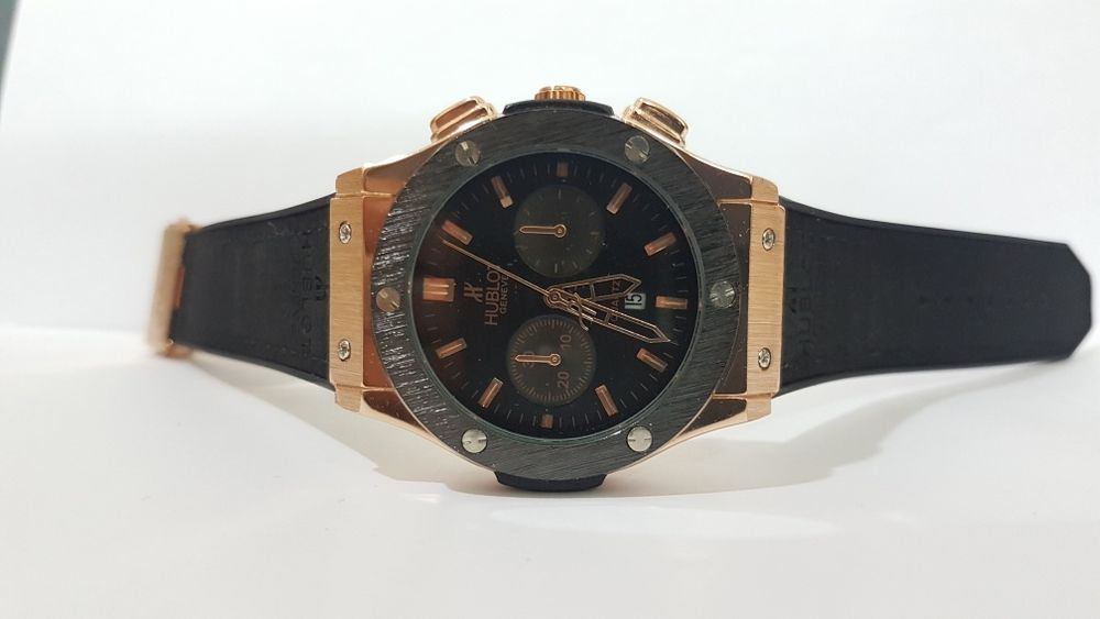 Hublot black with golden
