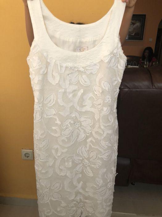 Vestido branco . Lindo usado apenas uma vez