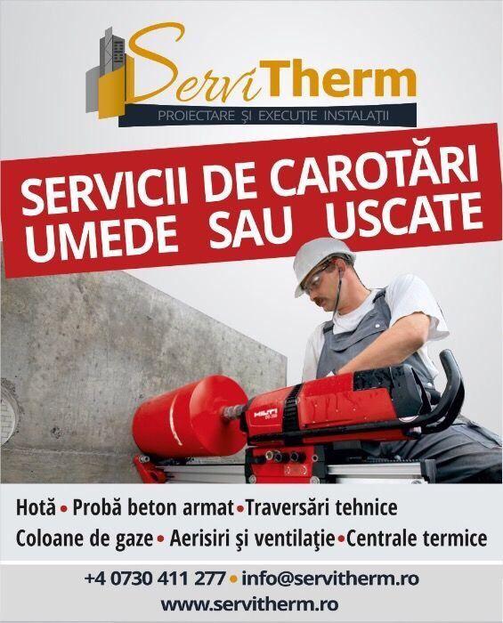 Realizare gaura hota, centrala termica, carotare, beton armat,demolari
