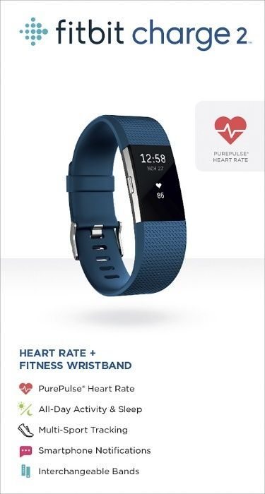 Bratara Fitbit Charge 2 Tracker de activitate + Heart Rate - Larg