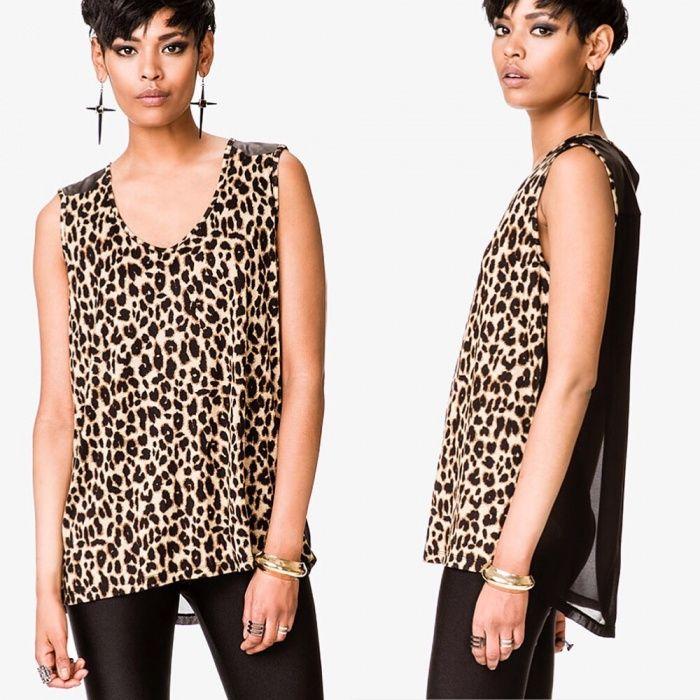 Bluza Tricou Maiou Forever 21 original animal print plasa stil Zara