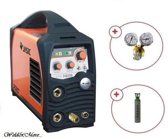 Pachet aparat sudura TIG/WIG cu argon JASIC TIG 200(W207)