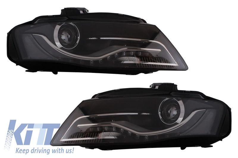Faruri LED AUDI A4 B8 2008-2011 cu lumini de zi DEPO