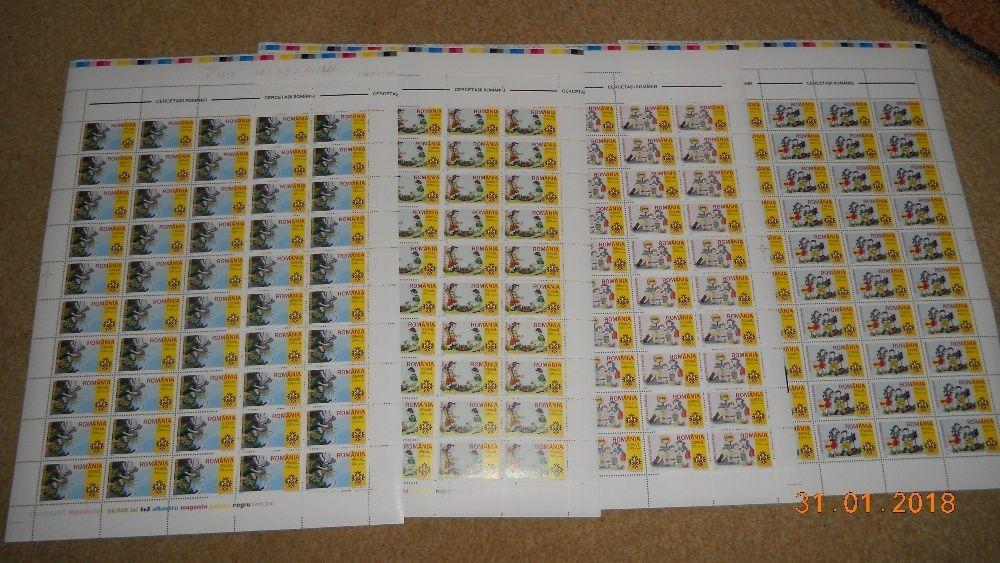 timbre romania in coli 50 serii cercetasii romaniei 2005