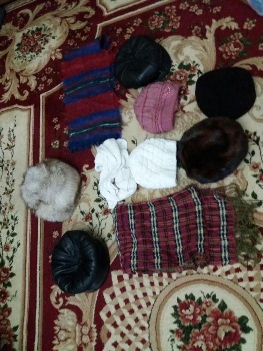 Шапка зимняя шарф перчатки