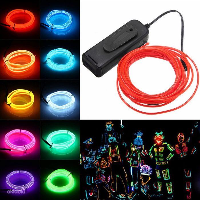 для одежды на шоу-костюмы подсветка от батареек гибкий неон Flex Neon