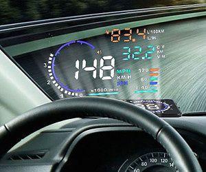 Head up display. Mostrar informaçoes para vidro de carro..tudos marcas