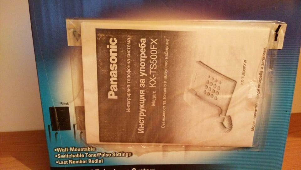 Телефон Panasonic KX-TS500FX Чисто нов, неразопакован гр. Шумен - image 3