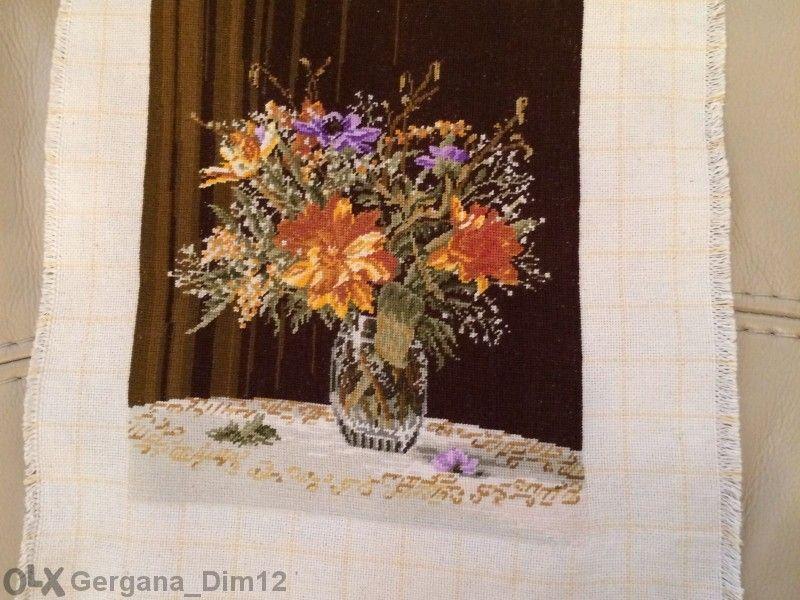 Гоблен Ваза с цветя; Майчина усмивка!СПЕШНО!
