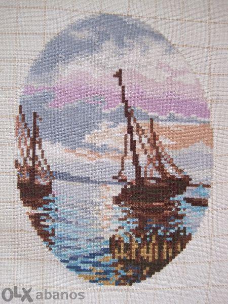 Гоблен Лодки в морето