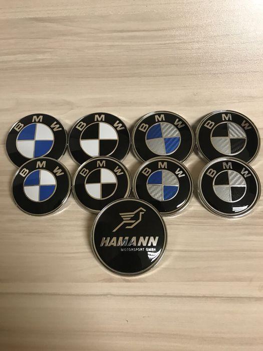 ! Най-ниска цена ! Емблема БМВ/BMW Синя Черна Карбонова Hamann Alpina