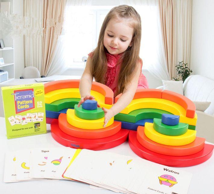 Circle set KidPik Montessori Дървените кръгове на Монтесори