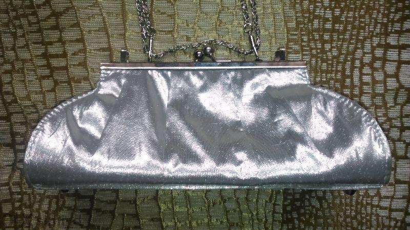 Официална чантичка / металик