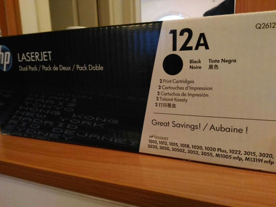 Консуматив HP 12A Black LaserJet Toner Cartridge 3a Лазерен Принтер, Q