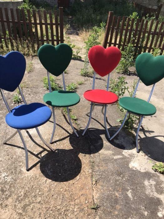 4 scaune inimioara
