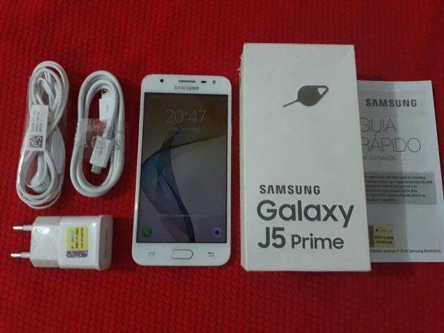 Samsung Galaxi J5 prime genuíno novo na caixa com todos os acessórios